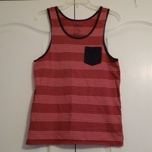 Red White Blue Gray Striped Muscle Tank Patriotic